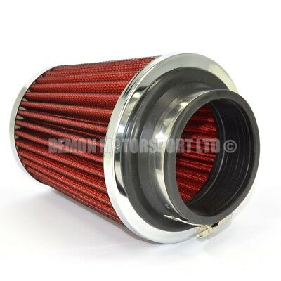"Universal Performance Cone Air Filter Red For 2.75"" / 70mm Induction Kit (76074)"