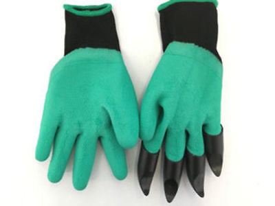 the claw grip garden gloves dig rake and more! plastic fingers buy one get one