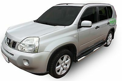 Nissan X-Trail  T31  2007-2013  Side bars CHROME stainless steel side steps PAIR