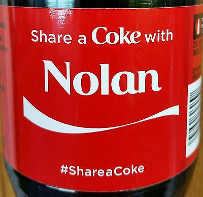 Summer 2015 Share A Coke With Nolan Personalized Coca Cola Collectible Bottle