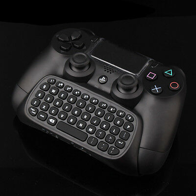 Bluetooth Mini Wireless Chatpad Message Keyboard for Sony PS4 Slim Controller