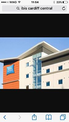 Hotel Ibis Cardiff Central 24/25 June 2 Nights