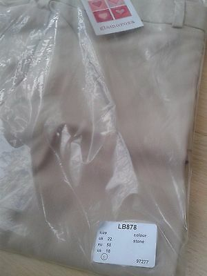 Brand new, with tags - Wide leg Stretch Trousers, UK22, Stone, Elastication
