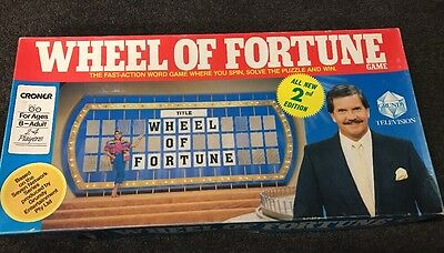 Wheel Of Fortune Board Game -  Collectable Vintage 1987 - Croner
