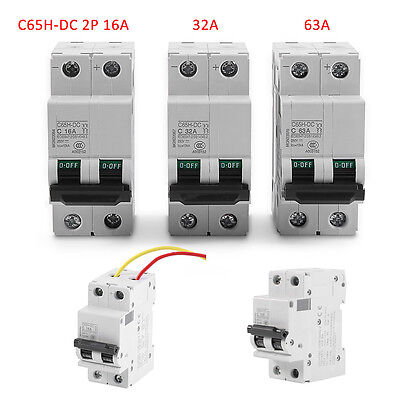 16A/32A/63A 250V DC 2P Miniature Air Circuit Breaker 10kA Breaking Capacity Amps