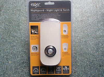 Elger Nightguard - Night Light & Torch for Nighttime & Emergency Use with Sensor