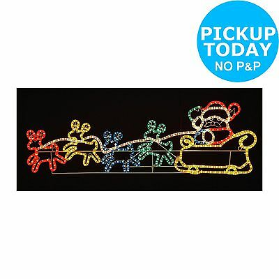 Silhouette Santa and 4 Reindeer - Multicoloured -From the Argos Shop on ebay