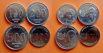 Indonesia - coin set - 100, 200, 500 and 1000 Rupiah 2016 - UNC - from UNC roll