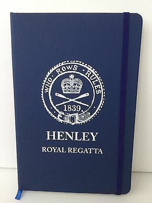 Bnib Henley Royal Regatta 'who Rows Rules 1839' Lined Notebook - New/unused