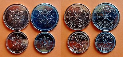 Oman - coin set - 5, 10, 25 and 50 Baisa 2015 - UNC - National Day - TOP !!!