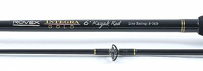 """Rovex Integra Gold Kayak Fishing Rods - 4ft 3"""" & 6ft Models Available"""