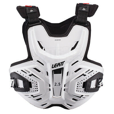 New Leatt 2.5 Motocross Enduro Chest Protector Armour White Adult One Size