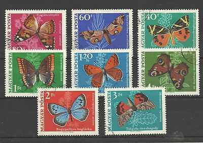 Timbres Papillons Hongrie 2034/41 o lot 2317