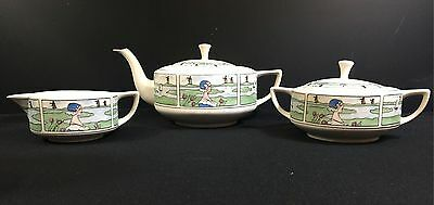 Pickard--Arts & Crafts Tea Set--Dutch Scene--(3) Pieces---Lovely--Buy It Now!