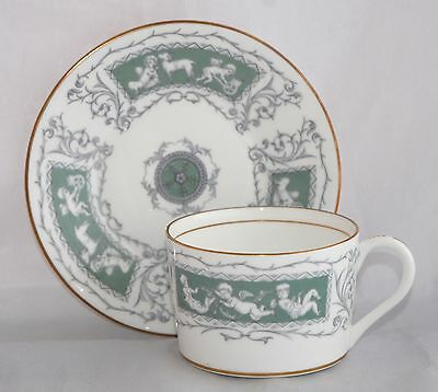 1970s Coalport REVELRY ADAM GREEN Flat Cup and Saucer Set - Multiple Available