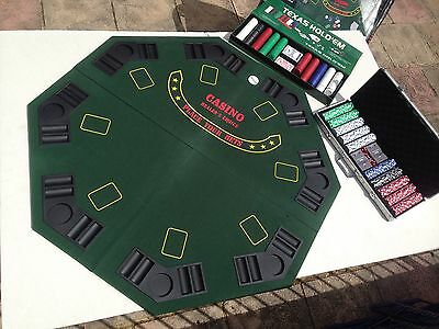 8 Person Folding Poker Table With Chips And Cards Bundle