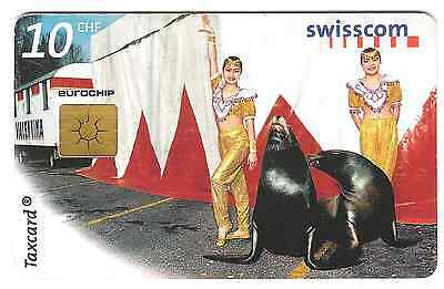 Performing Sea Lions Swiss phonecard 10chf