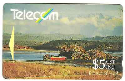 New Zealend $5 phonecard used.