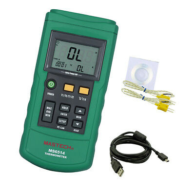 MS6514 K-Type 2 Channel Digital Thermocouple Thermometer Temperature Tester