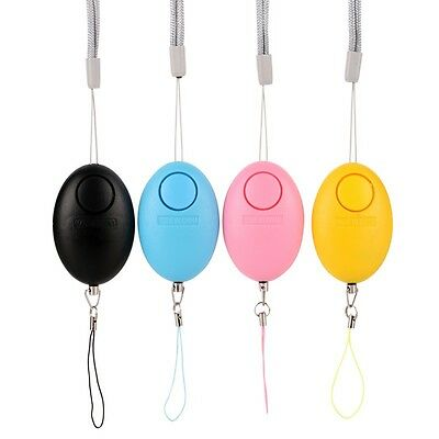Personal Security Alarm Anti-Attack Rape Self Defense Egg-Shaped Safety Keychain