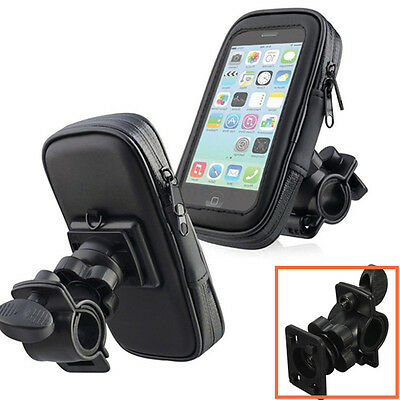 Bike Bicycle Motorcycle Head HandBar Phone Holder Waterproof Case Phones Support