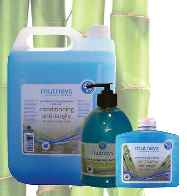 Mutneys CONCENTRATED Professional Dog Pet Shampoo Fresh Anti Tangle Shampoo