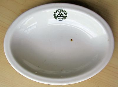 Early USL United States Lines Steamship Ocean Liner China Bowl w Triangle Logo