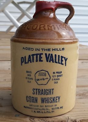 Original McCormick Stoneware Pint Jug Platte Valley Corn Whiskey