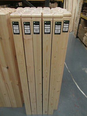 Solid Pine Simplicity Square Complete Stair Newel Post 1430mm with Cap