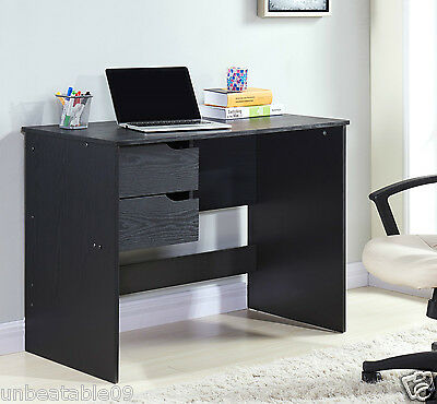 Walnut or Black Wooden Wood Computer PC Laptop Desk Home Office Furniture New