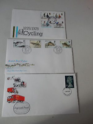 9 Royal Mail First Day Covers 1978 -1995