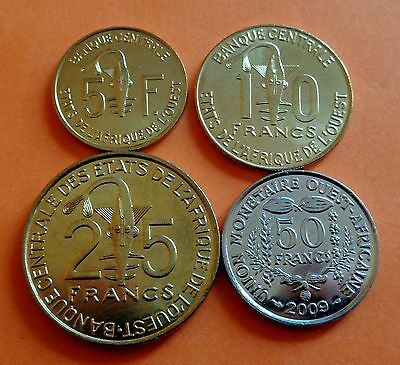Lot - West African States - coin set - 4 coins - UNC - see pics! TOP !!!