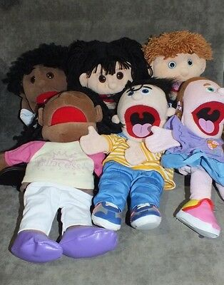 Lot 6 Silly Puppets Hand Puppets Mixed Lot Ethnic Sunny Day Puppets MS3