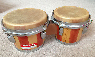 Percussion Plus - Wooden Bongo Drums (hardly used)