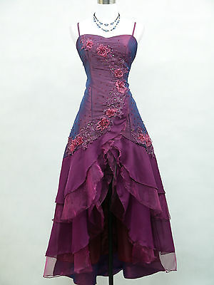 Cherlone Purple Ballgown Bridesmaid Formal Wedding/Evening Full Length Dress 8