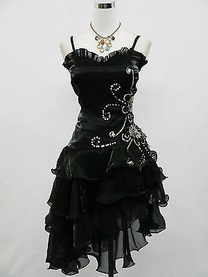 Cherlone Black Prom Party Ball Evening Bridesmaid Wedding Formal Dress Size 20