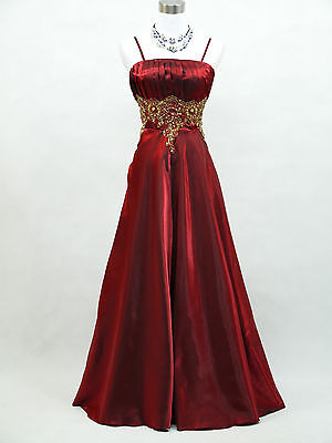 Cherlone Plus Size Red Ballgown Wedding Evening Bridesmaid Full Length Dress 24