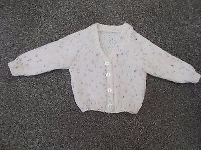 knitted baby cardigan fits 0-3 months
