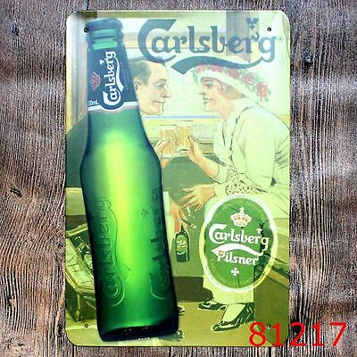 Metal Tin Sign carlsberg beer Bar Pub Vintage Retro Poster Cafe ART