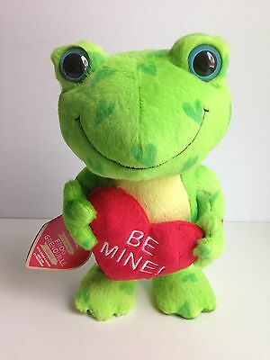 "Hallmark Plush Singing 10""  FROG Animated Motion Valentine NWT"