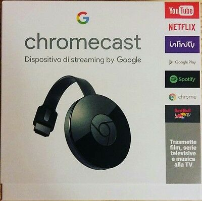 Google Chromecast 2 (2015) HDMI STREAMING MEDIA PLAYER YOUTUBE INFINITY