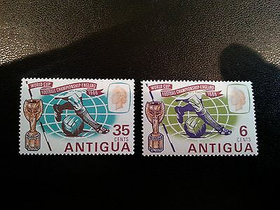 1966 Antigua World Cup stamps m/mint