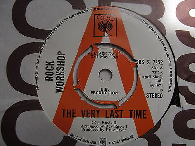 Rock Workshop-The Very Last Time/Light is Light RARE DEMO
