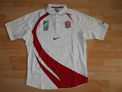 vintage Nike ENGLAND 2007 RUGBY WORLD CUP 07-08 home rugby jersey shirt size L