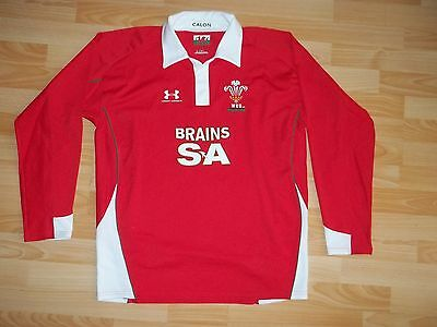 vintage Under Armour WALES 2008-10 rugby home shirt jersey size L LARGE