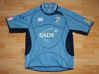 vintage Canterbury CARDIFF BLUES 2008-09 home rugby shirt jersey size XL