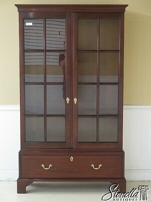 L42585E: STICKLEY Colonial Williamsburg Mahogany 2 Door Bookcase