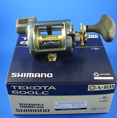 Shimano Tekota 600 LC // TEK600LCM // Sea Fishing Reel Line Counter In Meters