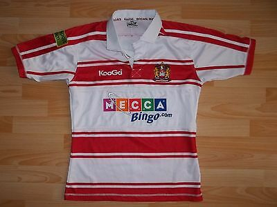 vintage Kooga WIGAN WARRIORS 2009-10 home rugby shirt jersey size S SMALL