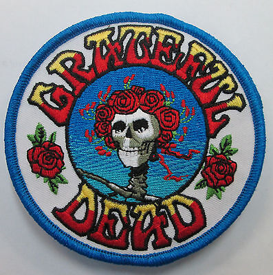 GRATEFUL DEAD COLLECTABLE RARE VINTAGE PATCH EMBROIDED skull roses  JERRY GARCIA
